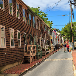 Annapolis, MD, USA - May 20, 2012: The historic residential area in Annapolis Maryland is both quaint and picturesque.