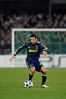 FOOTBALL - CHAMPIONS LEAGUE 2010/2011 - GROUP STAGE - GROUP G - AJ AUXERRE v AJAX AMSTERDAM - 3/11/2010 - PHOTO GUY JEFFROY / DPPI - MOUNIR EL HAMDAOUI (AJAX)