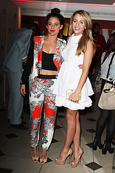 © London News Pictures. 05/06/2013 . London, UK.   Katie Waissel & Lydia Road Bright attend the Retro Feasts Launch Party. Photo credit : Brett D. Cove/PiQtured/LNP