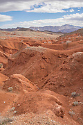 Red desert in Lake Mead National Recreation Area, Nevada.
