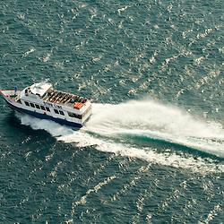 Aerial views of the Star Line Mackinac Island's Hydro-Jet® Ferry
