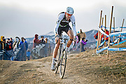 SHOT 1/12/14 4:19:58 PM - Ryan Trebon (#4) of Bend, Ore. competes in the Men's Elite race at the 2014 USA Cycling Cyclo-Cross National Championships at Valmont Bike Park in Boulder, Co. Trebon finished second in the race with a time of 59:59. (Photo by Marc Piscotty / © 2014)