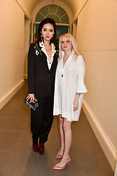 Left to right, Betty Bachz and Scarlett Carlos Clarke at a preview of the 'From Selfie To Self-Expression' exhibition at The Saatchi Gallery, Duke Of York's HQ, King's Road, London, England. 30 March 2017.
