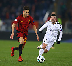 December 5, 2017 - Rome, Italy - Stephan El Shaarawy of Roma and Gara Garayev of Qarabag during the UEFA Champions League Group C football match AS Roma vs FK Qarabag on December 5, 2017 at the Olympic stadium in Rome, Italy. (Credit Image: © Matteo Ciambelli/NurPhoto via ZUMA Press)