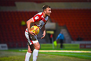 Herbie Kane of Doncaster Rovers (15) collects the ball from behind the goal for a corner kick during the EFL Sky Bet League 1 match between Doncaster Rovers and Southend United at the Keepmoat Stadium, Doncaster, England on 12 February 2019.