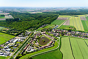 Nederland, Flevoland, Noordoostpolder, 07-05-2018; Kuinre en Kuinderbos.<br /> Aangeplant bos. <br /> Planted forest in new polder, North East Polder.<br /> <br /> luchtfoto (toeslag op standard tarieven);<br /> aerial photo (additional fee required);<br /> copyright foto/photo Siebe Swart