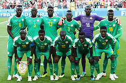 MOSCOW, June 19, 2018  Players of Senegal pose for a group photo prior to a Group H match between Poland and Senegal at the 2018 FIFA World Cup in Moscow, Russia, June 19, 2018. (Credit Image: © Xu Zijian/Xinhua via ZUMA Wire)