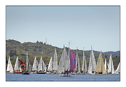 The Brewin Dolphin Scottish Series, Tarbert Loch Fyne..Mass fleet of One designs drift to the finish..