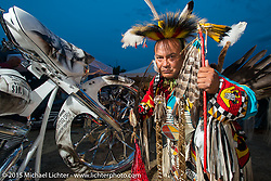 Native Americans at the Buffalo Chip Campground during the  75th Annual Sturgis Black Hills Motorcycle Rally.  SD, USA.  August 4, 2015.  Photography ©2015 Michael Lichter.