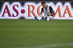 Stadium Olimpico Football Calcio Serie A AS Roma Vs Juventus. 14 May 2017 Pictured: Delusione Mario Mandzukic Juventus Dejection. Photo credit: Insidefoto / MEGA TheMegaAgency.com +1 888 505 6342