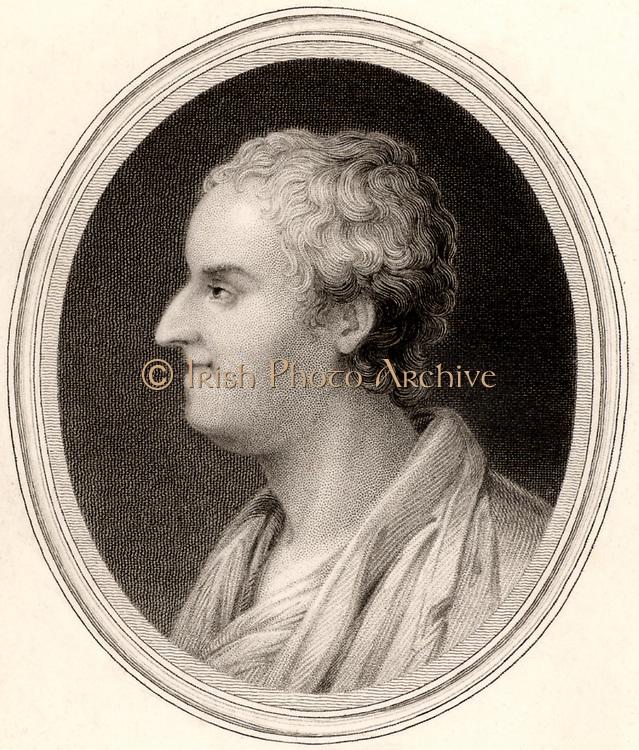Thomas Gray (1716-1771) English poet and classical scholar. Engraving, London, 1837.