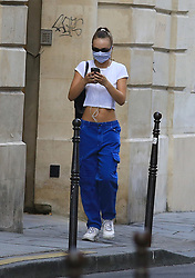 Lily Rose Depp strolling in paris France , Paris on may 21 , 2020<br /> Merci de cacher le visage des enfants avant la publication. Please hide the children's faces prior to the publication.