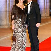 NLD/Amsterdam/20130429- Afscheidsdiner Konining Beatrix Rijksmuseum, Ronald Plasterk en partner Els