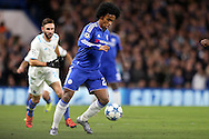 Willian of Chelsea in action. UEFA Champions league group G match, Chelsea v Porto at Stamford Bridge in London on Wednesday 9th December 2015.<br /> pic by John Patrick Fletcher, Andrew Orchard sports photography.