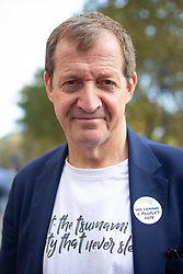 © Licensed to London News Pictures. 20/10/2018. London, UK. Former Labour spin doctor Alastair Campbell joins demonstrators taking part in the 'People's Vote' march in central London, campaigning for a public vote on the final Brexit deal. Organisers are expecting over 100,000 to attend the demonstration. Photo credit : Tom Nicholson/LNP