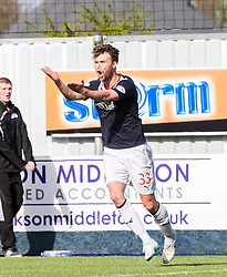Falkirk's Rory Loy complains after an offside.<br /> Falkirk 2 v 1 Raith Rovers, Scottish Championship game played today at The Falkirk Stadium.<br /> © Michael Schofield.