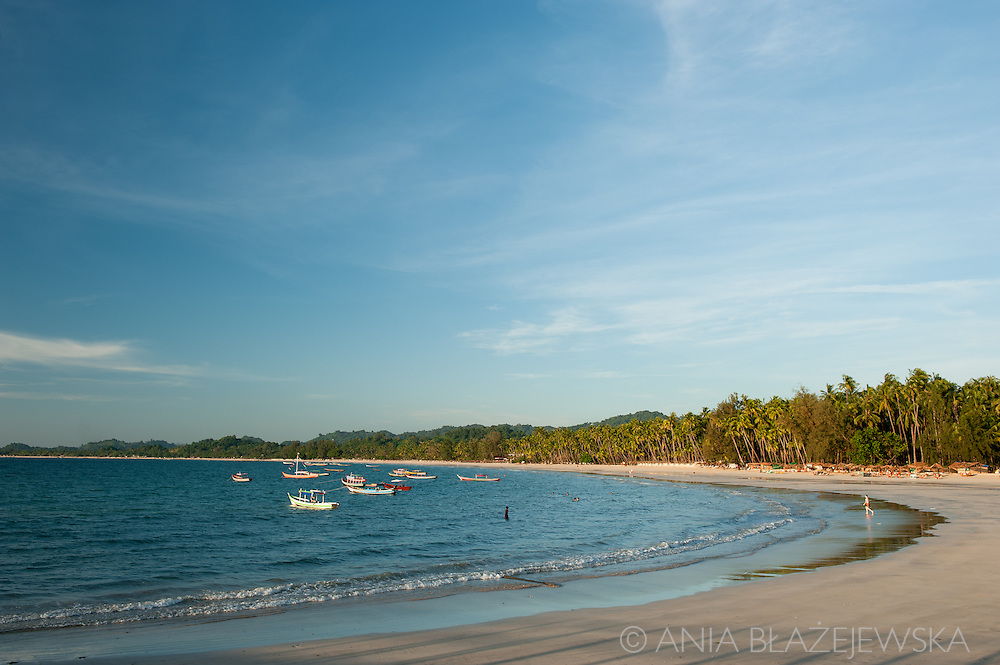 Ngapali Beach in Myanmar with its turquoise water and soft white sand is one of the popular tourist destinations in the country attracting more and more visitors every year.