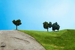 Model trees on pretend grass (Credit Image: © Image Source/Taira Kunihara/Image Source/ZUMAPRESS.com)