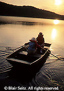 PA landscapes Seniors Enjoy Boating on Lake at Sunset, York Co., PA
