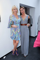 Left to right, AMANDA CRONIN and ALESSANDRA FRANZI at a private view of photographs by David Bailey entitled 'Then' held at Hamiltons, 13 Carlos Place, London W1 on 6th July 2010.
