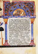 St Eusebius. From Epistle of Eusebius to Carpianus.13th century Armeniasn manuscript.