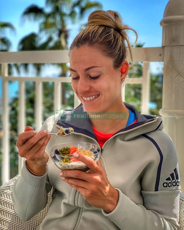 """Angelique Kerber releases a photo on Instagram with the following caption: """"I\u2019m usually not a morning person BUT it can be fixed with a good  BRE\u2615KF\ud83c\udf53ST! Have a great day \ud83d\ude4b\u200d\u2640\ud83d\ude18 #TeamAngie"""". Photo Credit: Instagram *** No USA Distribution *** For Editorial Use Only *** Not to be Published in Books or Photo Books ***  Please note: Fees charged by the agency are for the agency's services only, and do not, nor are they intended to, convey to the user any ownership of Copyright or License in the material. The agency does not claim any ownership including but not limited to Copyright or License in the attached material. By publishing this material you expressly agree to indemnify and to hold the agency and its directors, shareholders and employees harmless from any loss, claims, damages, demands, expenses (including legal fees), or any causes of action or allegation against the agency arising out of or connected in any way with publication of the material."""