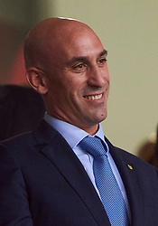September 11, 2018 - Elche, U.S. - ELCHE, SPAIN - SEPTEMBER 11: Luis Manuel Rubiales president of Spanish Royal Football Federation before the UEFA Nations League A Group four match between Spain and Croatia on September 11, 2018, at Estadio Manuel Martinez Valero in Elche, Spain. (Photo by Carlos Sanchez Martinez/Icon Sportswire) (Credit Image: © Carlos Sanchez Martinez/Icon SMI via ZUMA Press)