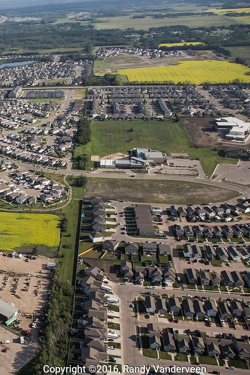 Photo Randy Vanderveen<br /> Grande Prairie, Alberta, Canada<br /> {today)<br /> Aerial photos of WestPointe on 84th.
