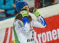 08.01.2019, Hermann Maier Weltcupstrecke, Flachau, AUT, FIS Weltcup Ski Alpin, Slalom, Damen, 2. Lauf, im Bild Petra Vlhova (SVK, Siegerin) // winner Petra Vlhova of Slovakia reacts after her 2nd run of ladie's Slalom of FIS ski alpine world cup at the Hermann Maier Weltcupstrecke in Flachau, Austria on 2019/01/08. EXPA Pictures © 2019, PhotoCredit: EXPA/ Erich Spiess