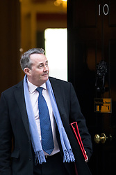 © Licensed to London News Pictures. 30/01/2018. London, UK. International Trade Secretary Liam Fox leaving Downing Street after attending a Cabinet meeting this morning. Photo credit : Tom Nicholson/LNP