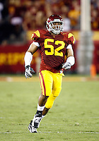 1 September 2007: #52 Luthur Brown. USC Trojans college football team defeated the Idaho Vandals 38-10 at the Los Angeles Memorial Coliseum in CA.  NCAA Pac-10 #1 ranked team first game of the season.