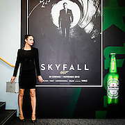 "APB executives receiving their ""secret mission"" from our agent. A Heineken/Skyfall event."
