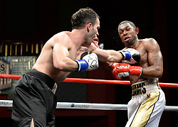 October 20, 2018 - Mashantucket, CT, U.S. - MASHANTUCKET, CT - OCTOBER 20: Jimmy Williams  (red gloves) takes on Enver Halili (blue gloves) in a Welterweight bout on October 20, 2018, at the Foxwoods Casino in Mashantucket, CT. Jimmy Williams defeats Enver Halili via decision.  (Photo by Williams Paul/Icon Sportswire) (Credit Image: © Williams Paul/Icon SMI via ZUMA Press)