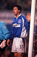 Idan Tal - Everton. Everton v Arsenal. F.A.Carling Premiership, 18/11/2000. Credit: Colorsport / Andrew Cowie.