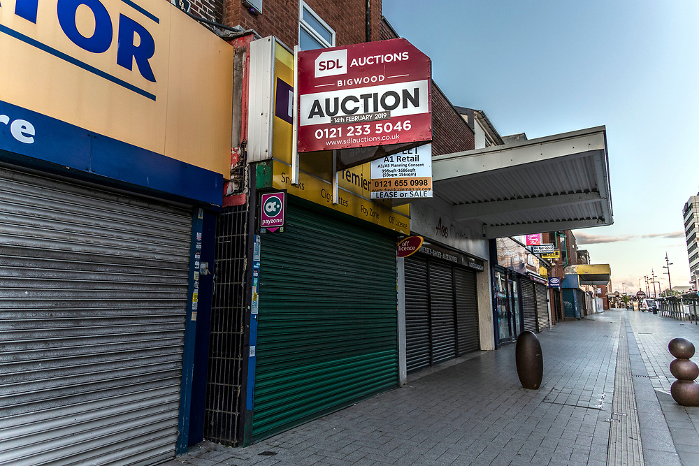 Commerical properties for rent. Closed down shops, business and Auctions. West Bromwich, West Midlands, UK.