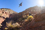 Reed Boggs competes at the 2019 Red Bull Rampage in Virgin, UT. © Brett Wilhelm