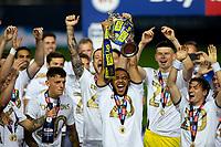 The Leeds United team celebrates becoming champions<br /> <br /> Photographer Alex Dodd/CameraSport<br /> <br /> The EFL Sky Bet Championship - Leeds United v Charlton Athletic - Wednesday July 22nd 2020 - Elland Road - Leeds <br /> <br /> World Copyright © 2020 CameraSport. All rights reserved. 43 Linden Ave. Countesthorpe. Leicester. England. LE8 5PG - Tel: +44 (0) 116 277 4147 - admin@camerasport.com - www.camerasport.com