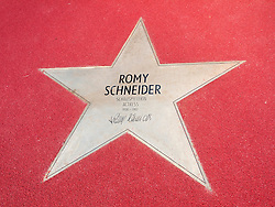 Romy Schneider star on Boulevard der Stars a special boulevard tribute to movie stars  at Potsdamer Platz in Berlin opened 10 September 2010