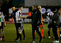 Football - 2020 / 2021 Emirates FA Cup - Round Four: Chorley vs. Wolverhampton Wanderers<br /> <br /> Wolverhampton Wanderers manager Nuno Espirito Santo congratulates Harvey Smith of Chorley at the final whistle after his team earned a 1-0 victory, at Victory Park.<br /> <br /> COLORSPORT/ALAN MARTIN