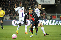 FOOTBALL - FRENCH CHAMPIONSHIP 2011/2012 - L1 - PARIS SAINT GERMAIN v TOULOUSE FC  - 14/01/2012 - PHOTO JEAN MARIE HERVIO / REGAMEDIA / DPPI - JEREMY MENEZ (PSG)