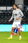 Cardiff City midfielder Marlon Pack (21) in the warm up  during the EFL Sky Bet Championship match between Derby County and Cardiff City at the Pride Park, Derby, England on 28 October 2020.
