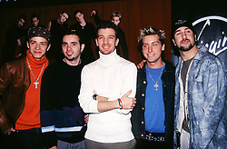 "'N Sync at a promotional appearance for their ""No Strings Attached"" Album."