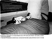 Sir Richard & Lady Rogers, on Angela Bulloch work. 1997 Turner prize Dinner. Tate Gallery, London. 2/12/97. Film 97655f30<br /> © Copyright Photograph by Dafydd Jones<br /> 66 Stockwell Park Rd. London SW9 0DA<br /> Tel 0171 733 0108