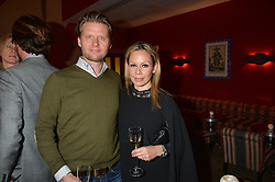 A party to celebrate the publication of renowned international fashion designer and icon Collette Dinnigan's book Obsessive Creative was held at the Ham Yard Hotel, One Ham Yard, London on 16th February 2015.<br /> Picture Shows:-PHILIP HAMILTON and CORALIE HAMILTON.