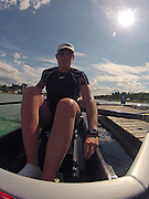 Munich, GERMANY,    General Views, GV's,  of the Boathouse and  Boating Area, CAN W8+, Laurnen WILKINSON, Boating for their morning training outing. 2012 World Cup III on the Munich Olympic Rowing Course,  Thursday  14/06/2012  [Mandatory Credit Peter Spurrier/ Intersport Images]..