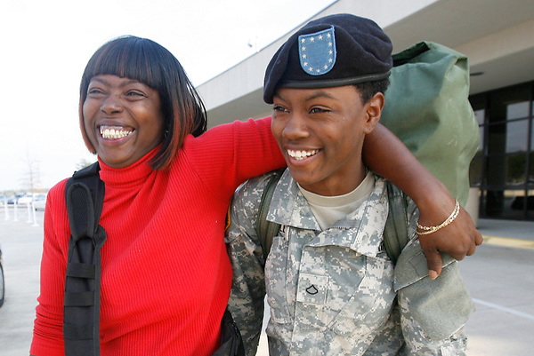 """""""My life has been tough, it's prepared me for the military. I think I made the right decision to become a combat medic,""""  said Tia. Sharon Wright is filled with pride for her daughter, Tia McLeod, as she returns home from Army basic training. In six months Tia will be at war, working as a combat medic stationed in Afghanistan."""