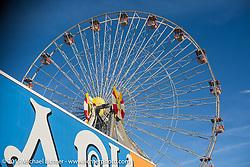 Ferris Wheel next to the Race of Gentlemen. Wildwood, NJ, USA. October 10, 2015.  Photography ©2015 Michael Lichter.