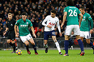 West Bromwich Albion midfielder Gareth Barry (18) keeps the ball during the Premier League match between Tottenham Hotspur and West Bromwich Albion at Wembley Stadium, London, England on 25 November 2017. Photo by Andy Walter.