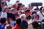 © 2000 All Rights Reserved - Peter Spurrier Sports Photo. .Tel 44 (0) 1784-440 771  .Mobile 44 (0) 973 819 551.email pictures@rowingpics.com.Sydney Olympics 2000 - Penrith Lakes, NSW..Steve Redgrave holding his three children and surronded by the media, also his smother looking on. .......... 2000 Olympic Regatta Sydney International Regatta Centre (SIRC) 2000 Olympic Rowing Regatta00085138.tif
