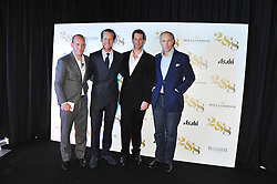 Left to right, CARLO CARELLO, JAKE PARKINSON-SMITH,  MARLON ABELA and DYLAN JONES at a party to celebrate the launch of the new 2&8 club at Morton's Berkeley Square, London on 27th September 2012.